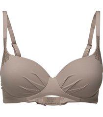 filippa - bra mould w. padding lingerie bras & tops wired bra beige femilet