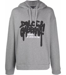 dolce & gabbana graffitti-logo hoodie