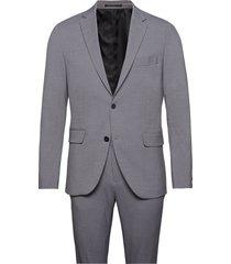 plain mens suit pak grijs lindbergh