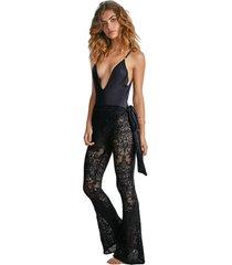 calça bell renda preto