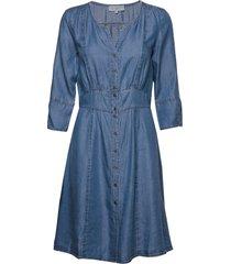 balicecr denim dress knälång klänning blå cream
