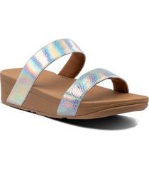 fitflop lottie bubble-embossed sandals women's shoes