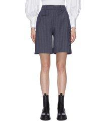 pinstripe high rise shorts