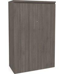 balcão alto 2 portas carvalho frances de madeira móveis kappesberg cinza