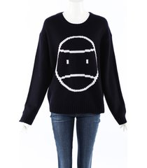 tory sport little grumps wool sweater blue/white sz: m