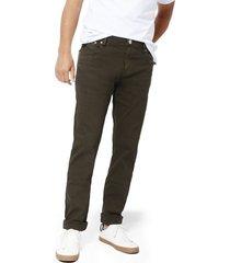 pantalón cleverlander stretch color siete para hombre - verde olive