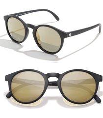 sunski dipsea 48mm polarized sunglasses - black / gold