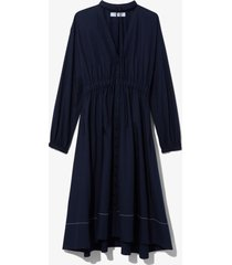 proenza schouler white label cotton poplin shirt dress midnight/blue 8