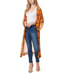 jessica simpson blakely floral-print duster jacket