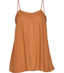 abisha blouse mouwloos oranje rabens sal r