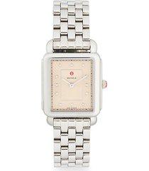 diamond marker stainless steel bracelet watch