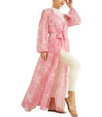 guess bre duster maxi dress