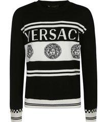 versace ribbed logo sweater