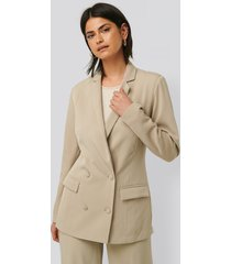 glamorous oversize blazer - beige