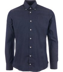 none of the above made in italy long sleeve shirt - navy marl 5002