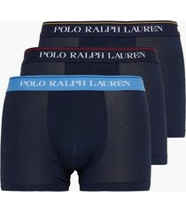 polo ralph lauren classic trunk 3-pack boxershorts navy/red