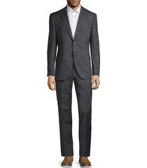 boss hugo boss men's johnstons & lenon virgin wool suit - navy - size 40 r