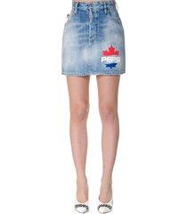 dsquared2 dalma light blue cotton skirt