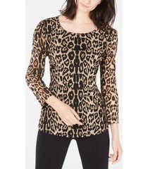 i.n.c. leopard-print knit top, created for macy's