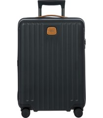 men's bric's capri 2.0 21-inch rolling carry-on - black