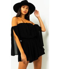 akira i can see you off the shoulder romper
