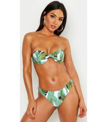 mix & match beverly hills push-up topje met beugel-beha's, groen