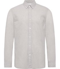button down cotton l skjorta casual grå calvin klein