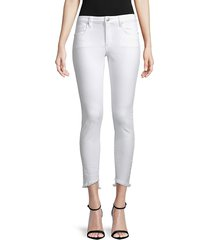 joe's jeans women's icon ankle jeans - white - size 24 (0)