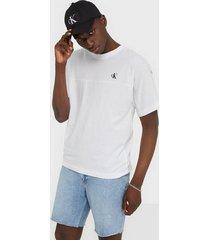calvin klein jeans puff print back logo t-shirt t-shirts & linnen white