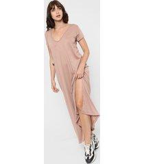 vestido beige destino collection