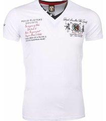 t-shirt korte mouw david copper korte mouwen borduur polo players