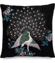 natori mayon beaded peacock embroidery pillow case natori