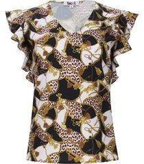 blusa cadenas arandelas color negro, talla 10