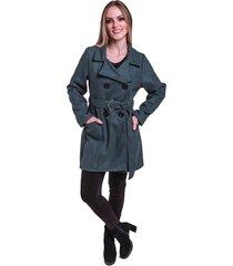 sobretudo jaqueta inverno frio lã batida acinturado com cinto cinza