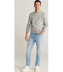 soft tapered-fit jeans met lichte wassing