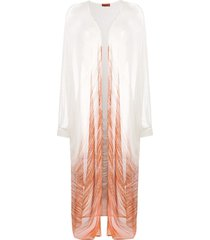 missoni draped cardigan coat - neutrals