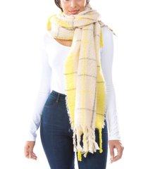 neon pop plaid scarf