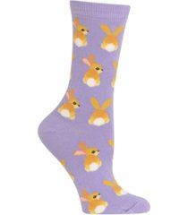 hot sox women's bunny tails fashion crew socks