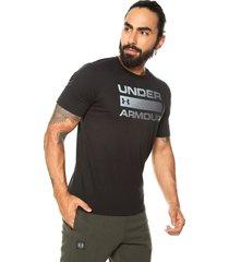 camiseta azul under armour issue wordmark