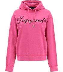 dsquared2 logo sweatshirt with hood
