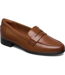 hamble loafer loafers låga skor brun clarks