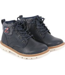 botin ross azul marino black and blue
