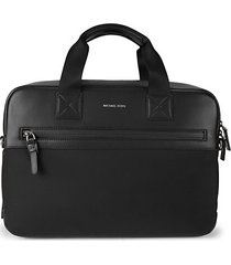 textile & leather sport briefcase