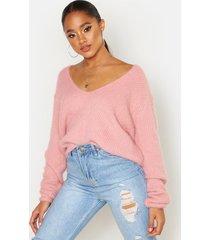 soft touch v neck sweater, blush