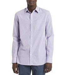 new essentials gingham slim-fit shirt