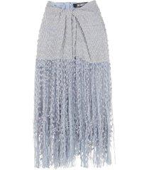 jacquemus capri fringed skirt