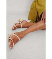 na-kd shoes fyrkantig remsandal - beige