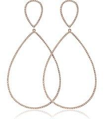 18kt rose gold tear drop earrings