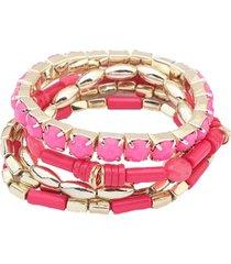 pulsera rosa  sasmon pu-10864