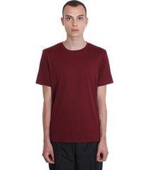 acne studios measure t-shirt in bordeaux cotton